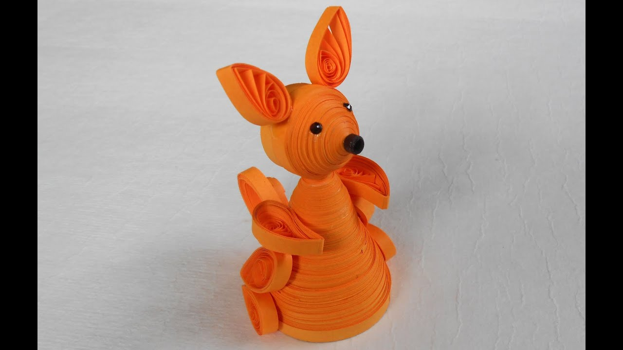 Make Quilling 3d Quilling Kangaroo Making