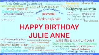 Julie Anne   Languages Idiomas - Happy Birthday
