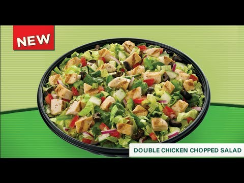 Subway Double Chicken Chopped Salad Review