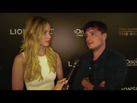 The Hunger Games: Jennifer Lawrence & Josh Hutcherson Visit NYC Exhibition - Interview