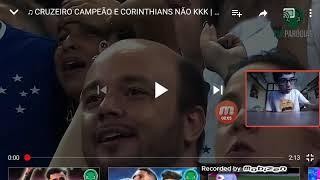 React cruzeiro campeão e Corinthians não kkk (futparodias)