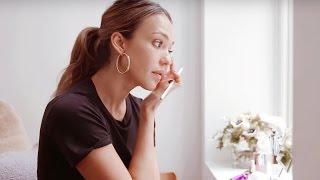 jessica albas pre makeup skincare tutorial