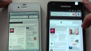 iPhone 4 vs. Samsung Galaxy S2 Speedtest