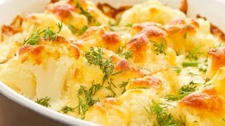 Цветная капуста под соусом Бешамель рецепт - Cauliflower recipes