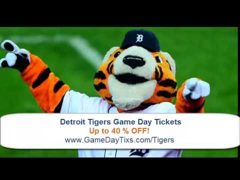 [Detroit Tigers] Baseball Tickets Up to 40% OFF!