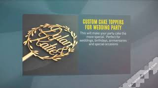 Custom Cake Toppers For Wedding Party Decoration
