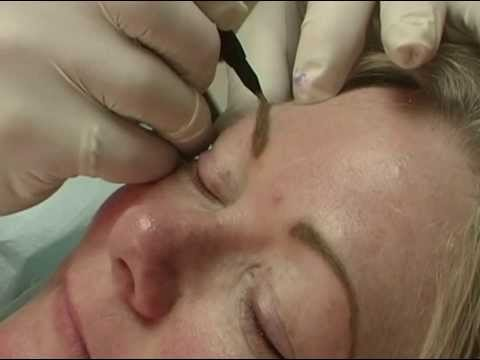 Permanent Eyebrow Tattooing Permanent Makeup Instruction Video
