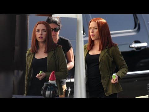 RedHot Scarlett Johansson Looks Slender on Captain America Set