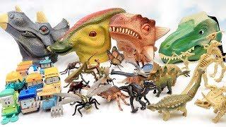4 Dinosaur Heads Toys  |Jurassic World Dinosaur, Dino Bone, Cars, Bug Toys