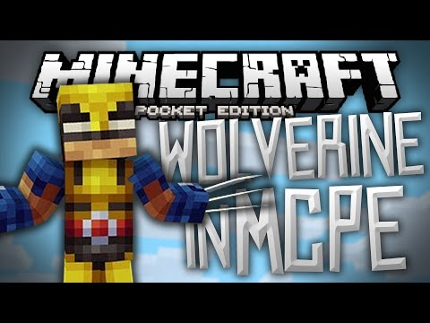 YOU ARE WOLVERINE Wolverine Mod for MCPE Minecraft PE Pocket Edition