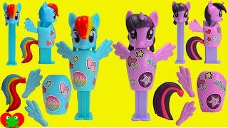 My Little Pony Connectibles Pez Candy Dispensers and Lollipop Ups