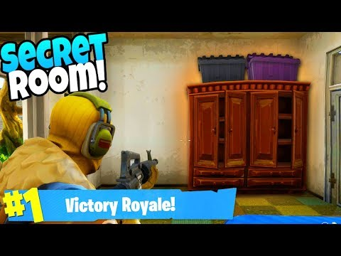 The NEW SECRET CHEST ROOM in Fortnite: Battle Royale (New City Chest Spots)