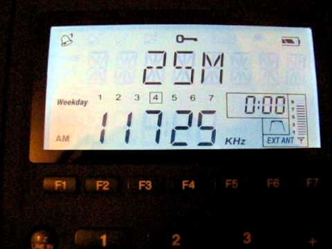 SW: Radio New Zealand International 11725 kHz Rangitaiki, New Zealand 2011-06-29