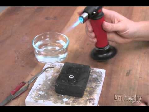 Art Jewelry - Fusing Metal With a Torch - YouTube