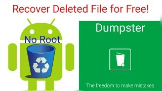 Restore any deleted file on Android for free - 2016 (No Root) (How To)