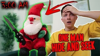 *SCARY* SANTA CLAUSE DOLL ONE MAN HIDE AND SEEK 3AM CHALLENGE!! (HE ATTACKED MY FRIEND!)