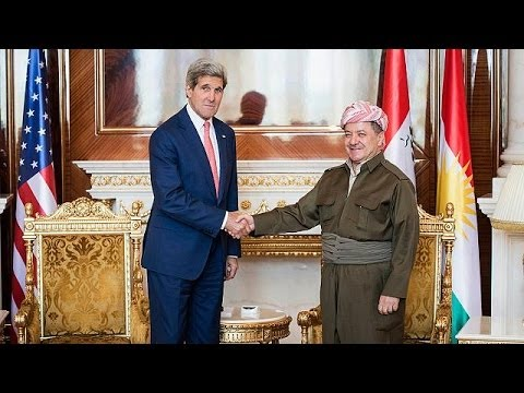 Kerry urges Kurds to support an inclusive Iraqi government