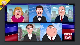 Peter on CNN NEWS | Family Guy
