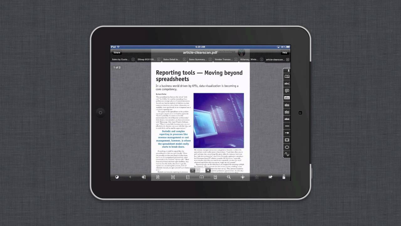 use goodreader on the ipad to go paperless youtube