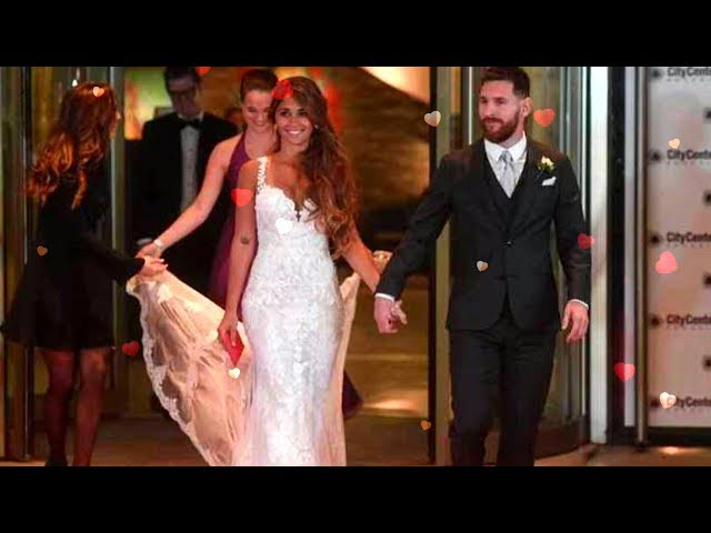 World's best footballer marries the girl he met when they were just five