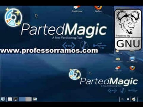 Parted Magic LINUX - Como Trabalhar com Partições - GParted - HirensBoot - www.professorramos.com