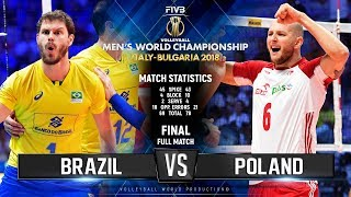 GOLD Collection | Brazil vs. Poland | FINAL | Full Match | 2018 FIVB Volleyball  World Championship