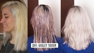 HOW TO GET WHITE HAIR / GREY HAIR , make your own violet toner at home TUTORIAL
