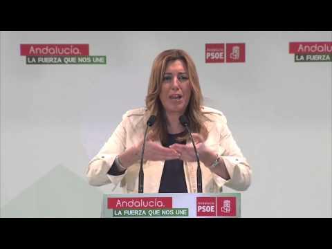 Susana Díaz: Hay políticos hablando de políticos y nadie a los andaluces