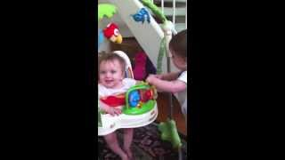 BB Twins Play In Bouncer