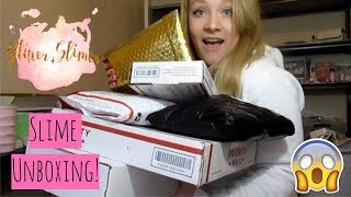 Opening Slime Packages and Unboxing Slime Supplies & Squishies!