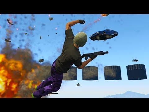 RPG vs COCHES VOLADORES - GTA 5 ONLINE
