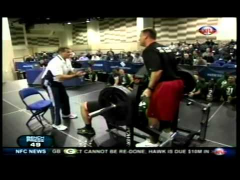 Stephen Paea breaking the NFL Combine Benching Record with 49 reps Image 1