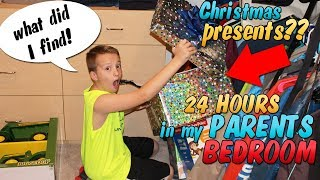 24 Hours in My Parents Room - Christmas Presents Found!!