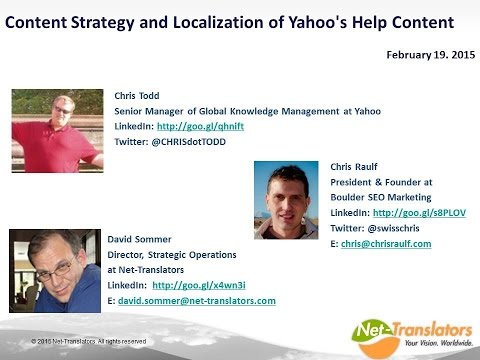 Webinar  Content Strategy and Localization of Yahoo's Help Content