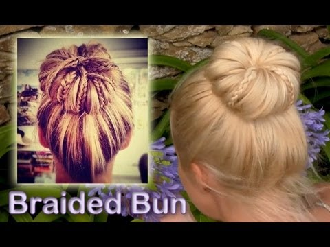 Elegant braided updo hairstyle for everyday Rolled bun for medium long hair tutorial