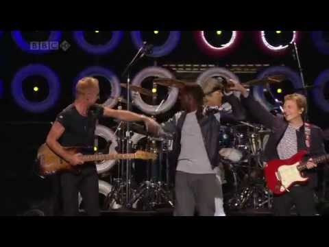 Sting & John Mayer & Kanye West  The Police - Message In A Bottle BBC HD Live Earth