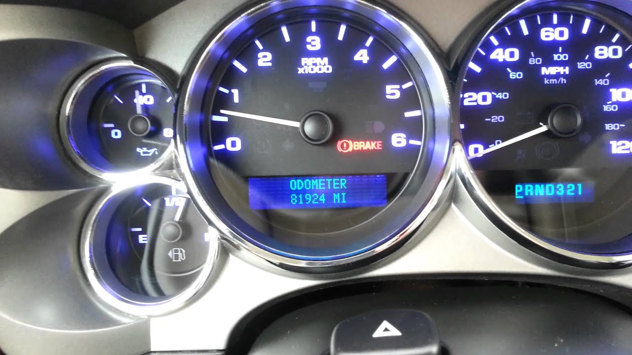 07 Gmc Sierra Multicolor Cluster Gauge Conversion Youtube