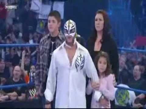 CM Punk confronts Rey Mysterio and his family on SmackDown 03/12/2010 HQ Video