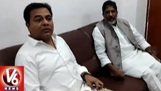 KTR Meets Congress CLP Leader Bhatti Vikramarka Over Deputy Speaker Selection