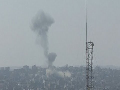 Raw: Airstrike Damages Mosque in Gaza City