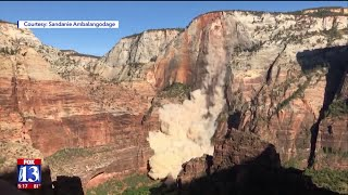 Zion Rockfall Caught on Video