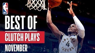 NBA's Best Clutch Plays | November 2018-19 NBA Season