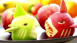 Apples Baby Shark | Creative Food | Fun Food For Kids |  Fruit Vegetable Carving