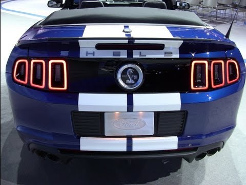 2013 Shelby GT500 Mustang convertible debuts at the 2012 Chicago Auto Show