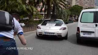 SLS AMG with Akrapovic Exhaust - Sound and Accelerations