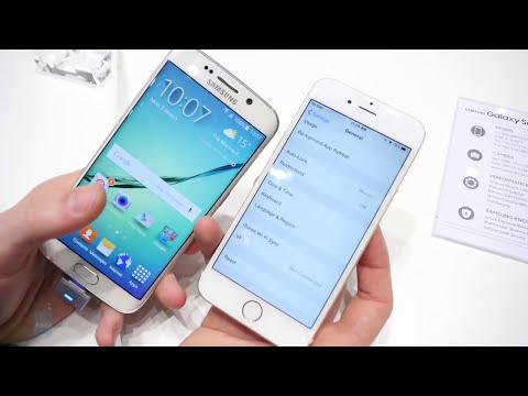 Samsung Galaxy S6 edge vs Apple iPhone 6: first look