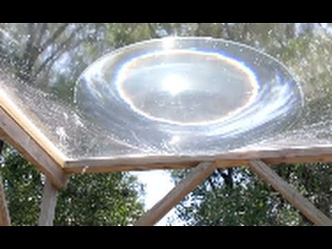SOLAR DEATH RAY WATER aqua lens with 1/3 Kilowatt Heat Energy grid free energy
