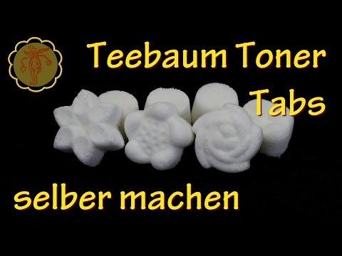 Teebaum Toner-Tabs selber machen - gegen Akne und unreine Haut - Mit Zutaten aus dem Supermarkt