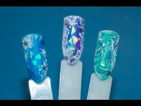 Зимний дизайн ногтей БИТОЕ СТЕКЛО 💅💧