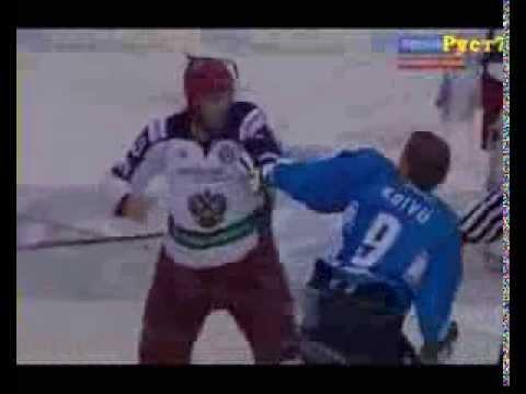 Хоккей Россия - Финляндия драка